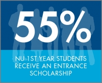55% 1st year students receive scholarships