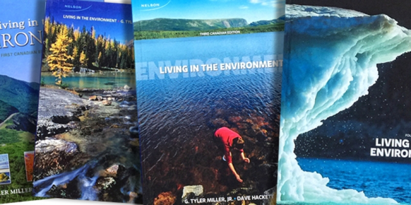 environmental textbooks published by Dr. Dave Hackett